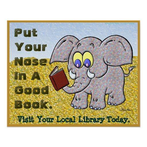 Put Your Nose In A Good Book Print