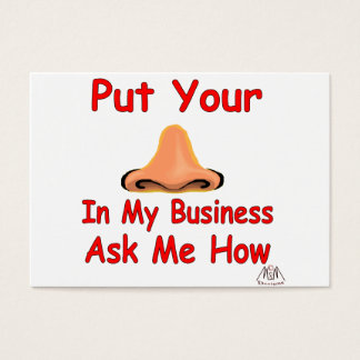 put your nose in business card
