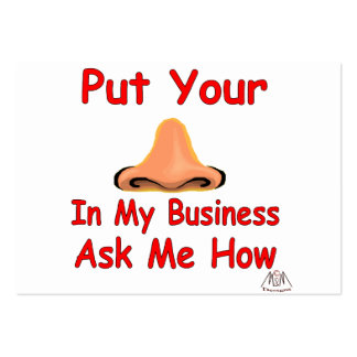 put your nose in business cards