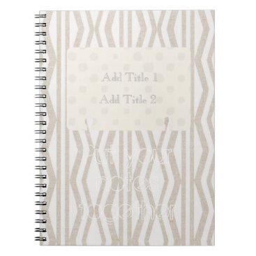 Beach Themed Put Your Notes Together Cream Pattern Notebook