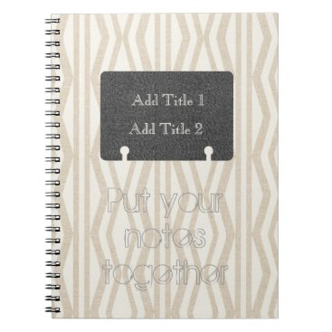 Beach Themed Put Your Notes Together Geometric Pattern Notebook