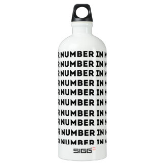 Put Your Number In My Phone Aluminum Water Bottle
