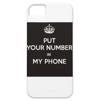 put your number in my phone iPhone 5 funda