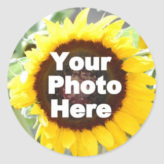 PUT YOUR OWN PHOTO ON GIFT friend mom grandma aunt Classic Round Sticker
