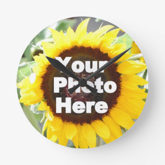 PUT YOUR OWN PHOTO ON GIFT friend mom grandma aunt Round Wall Clock