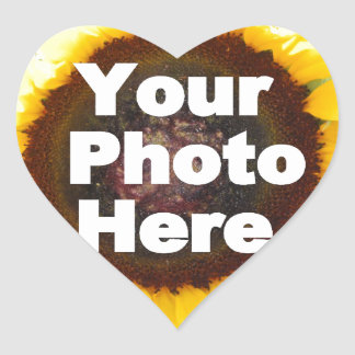 PUT YOUR OWN PHOTO ON GIFT friend mom grandma aunt Heart Sticker