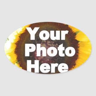 PUT YOUR OWN PHOTO ON GIFT friend mom grandma aunt Oval Sticker