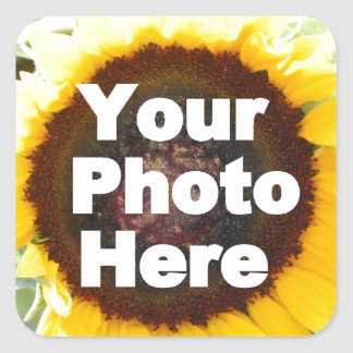 PUT YOUR OWN PHOTO ON GIFT friend mom grandma aunt Square Sticker