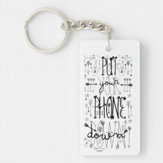 Put Your Phone Down Keychain