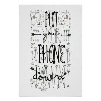 Put Your Phone Down (Rainbow Tint) Poster