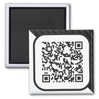 Put your Scannable QR code on these 2 Inch Square Magnet