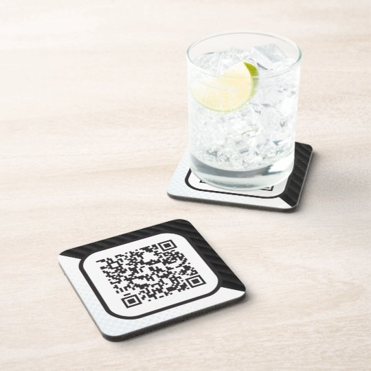 Put your Scannable QR code on these Drink Coaster