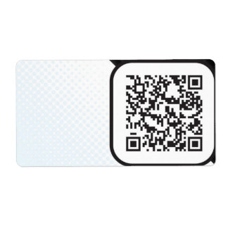 Put your Scannable QR code on these Label