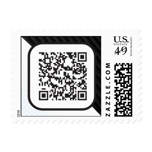 Put your Scannable QR code on these Postage Stamp