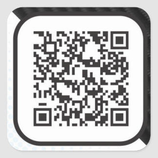 Put your Scannable QR code on these Square Sticker