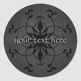 Put your text on these gorgeous Gothic stickers