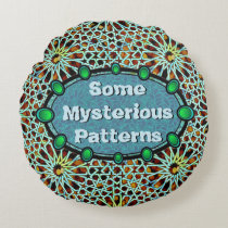 Put your words on arabesque turquoise & green