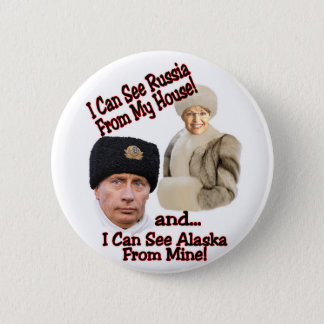 Putin and Palin Pinback Button
