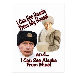Putin and Palin Postcard
