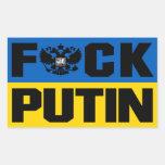 Putin anti pegatina rectangular