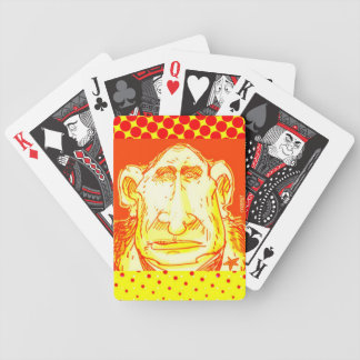 putin cartoon style caricature bicycle playing cards