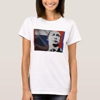 Putin con la bandera rusa playera