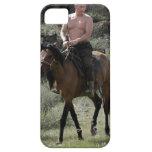 Putin descamisado monta un caballo funda para iPhone 5 barely there