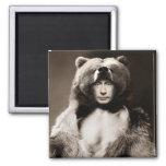Putin el oso imán cuadrado