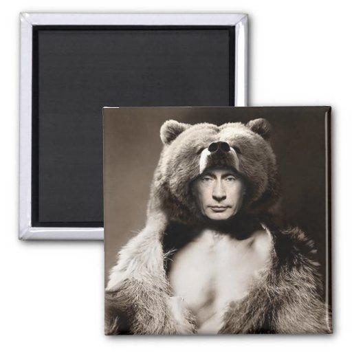 Putin el oso imanes para frigoríficos