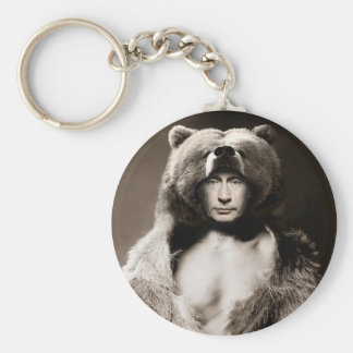 Putin el oso llavero redondo tipo pin