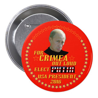 Putin for President USA 2016 Pinback Buttons