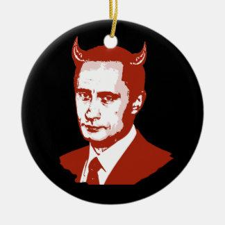 PUTIN IS THE DEVIL CHRISTMAS TREE ORNAMENTS