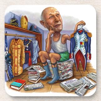 Putin on the Ritz Beverage Coaster