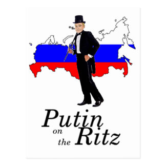 Putin on the Ritz Postcard