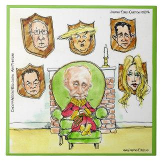 Putin On The Ritz W/ Trump Comic Ceramic Tile