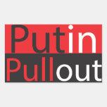 Putin Pullout Rectangular Sticker
