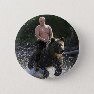 Putin rides a bear! button