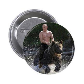 Putin rides a bear! button