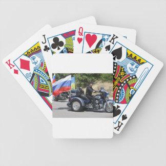 Putin rides a Trike! Bicycle Playing Cards