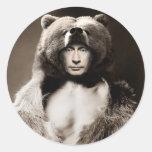 Putin the Bear Classic Round Sticker