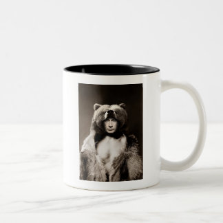 Putin the Bear Two-Tone Coffee Mug