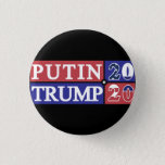 "Putin Trump 2020 Pinback Button<br><div class=""desc"">The 2016 election just came to an end,  but another one is coming up soon. Will Donald Trump&#39;s bromance with Vladimir Putin turn official in 2020? You never know. Here&#39;s what it would look like if the USA and Russia joined political forces.</div>"