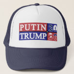 "Putin Trump 2020 Trucker Hat<br><div class=""desc"">The 2016 election just came to an end,  but another one is coming up soon. Will Donald Trump&#39;s bromance with Vladimir Putin turn official in 2020? You never know. Here&#39;s what it would look like if the USA and Russia joined political forces.</div>"