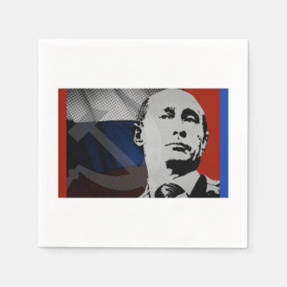 Putin with Russian Flag Paper Napkin