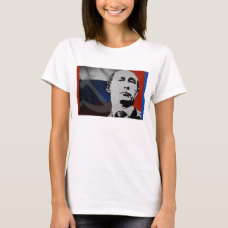 Putin with Russian Flag T-Shirt