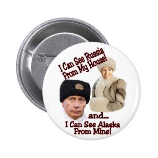 Putin y Palin Pin Redondo De 2 Pulgadas