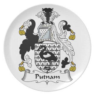 Putnam Family Crest Melamine Plate