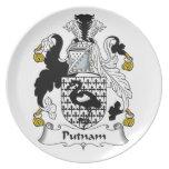 Putnam Family Crest Plate