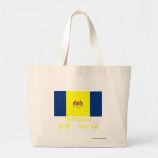 Putrajaya flag with name tote bags