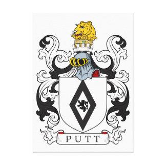 Putt Coat of Arms Canvas Print